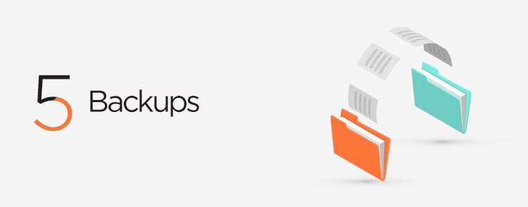 Daily backups possible through web maintenance